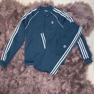 Adidas Womens Tracksuit Set Turquoise Activewear